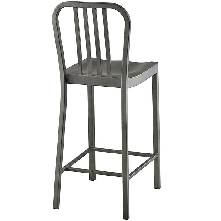 Modway Furniture Modern Clink Counter Stool In Silver Eei