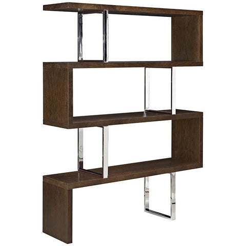 Modway Modern Meander Bookshelf Stand Walnut, Storage - Modway Furniture, Minimal & Modern - 1