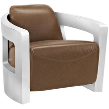 Modway Furniture Modern Trip Leather Lounge Chair in Brown EEI-2070-BRN-Minimal & Modern