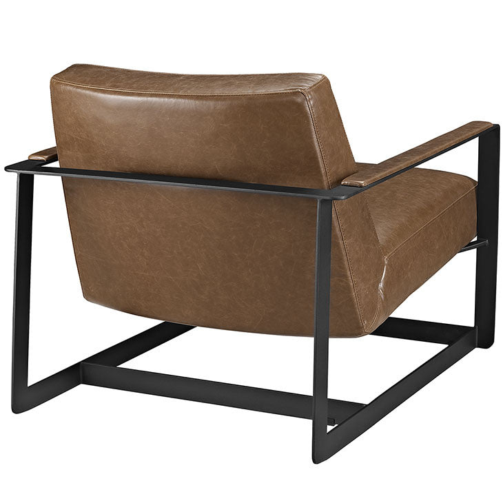 Cool Modway Furniture Modern Seg Bonded Leather Accent Chair In Brown Eei 2075 Brn Onthecornerstone Fun Painted Chair Ideas Images Onthecornerstoneorg
