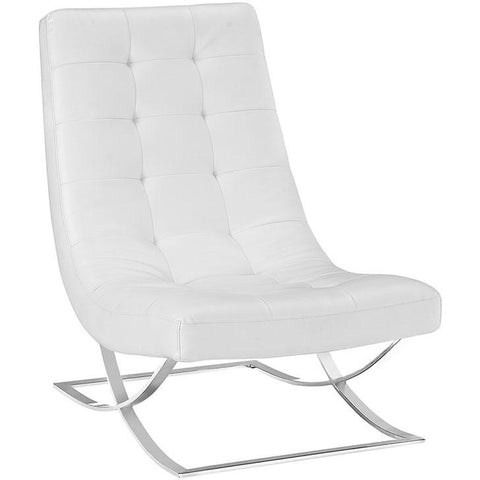 Modway Furniture Modern Slope Lounge Chair White, Chairs - Modway Furniture, Minimal & Modern - 1