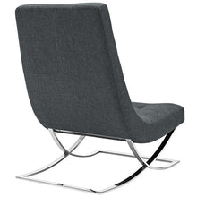 Modway Furniture Modern Slope Fabric Upholstered Lounge Chair in Gray EEI-2077-GRY-Minimal & Modern