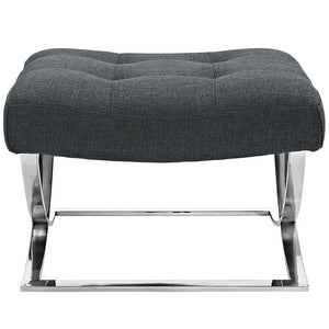 Modway Furniture Modern Slope Upholstered Fabric Ottoman in Gray EEI-2079-GRY-Minimal & Modern