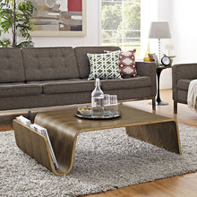 Modway Furniture Modern Polaris Wood Coffee Table in Walnut EEI-2091-WAL-Minimal & Modern