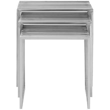 Modway Furniture Modern Metal Duct Nesting Side Table in Silver EEI-2094-SLV-Minimal & Modern