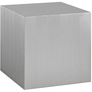 Modway Furniture Modern Solid Cast Stainless Steel Side Table in Silver EEI-2097-SLV-Minimal & Modern