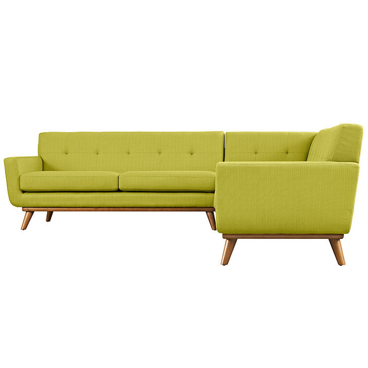 Modway Furniture Modern Fabric Engage L Shaped Sectional Sofa Eei