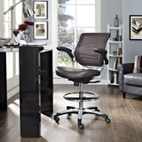 Modway Modern Edge Adjustable Computer Office Drafting Chair - Minimal & Modern - 12