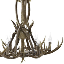 Modway Furniture Modern Lodge Cabin Outdoor Antler Charge Chandelier in Brown EEI-2113-BRN-Minimal & Modern