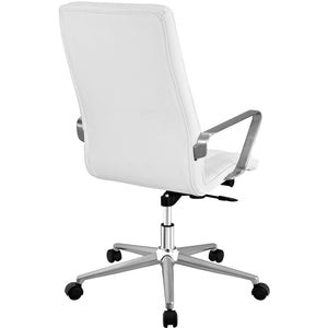 Modway Furniture Modern Tile Highback Office Chair in Gray EEI-2126-GRY-Minimal & Modern