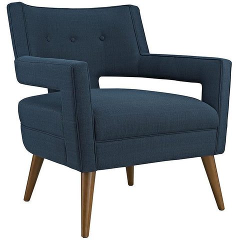 Modway Furniture Sheer Upholstered Fabric Armchair Azure, Armchair - Modway Furniture, Minimal & Modern - 1