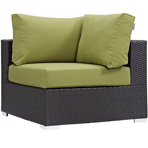 Modway Furniture Modern Convene 7 Piece Outdoor Patio Sectional Set EEI-2162-Minimal & Modern