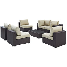 Modway Furniture Modern Convene 7 Piece Outdoor Patio Sectional Set EEI-2164-Minimal & Modern