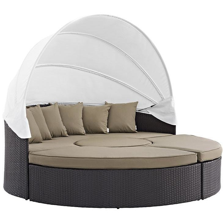 Modway Furniture Modern Convene Canopy Outdoor Patio Daybed EEI-2173-Minimal & Modern