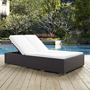 Modway Furniture Modern Convene Double Outdoor Patio Chaise EEI-2177-Minimal & Modern