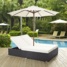 Modway Furniture Modern Convene Double Outdoor Patio Chaise EEI-2180-Minimal & Modern