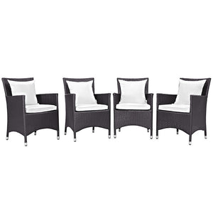 Modway Furniture Modern Convene 4 Piece Outdoor Patio Dining Set EEI-2190-Minimal & Modern