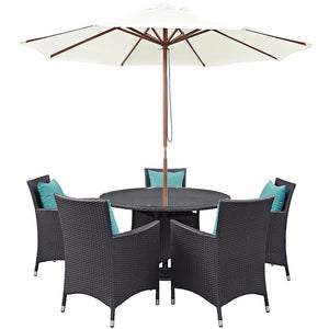 Modway Furniture Modern Convene 7 Piece Outdoor Patio Dining Set EEI-2193-Minimal & Modern