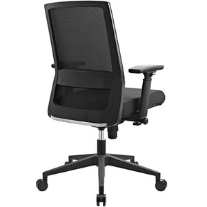 Modway Furniture Modern Shift Fabric Office Chair in Black EEI-2213-BLK-Minimal & Modern