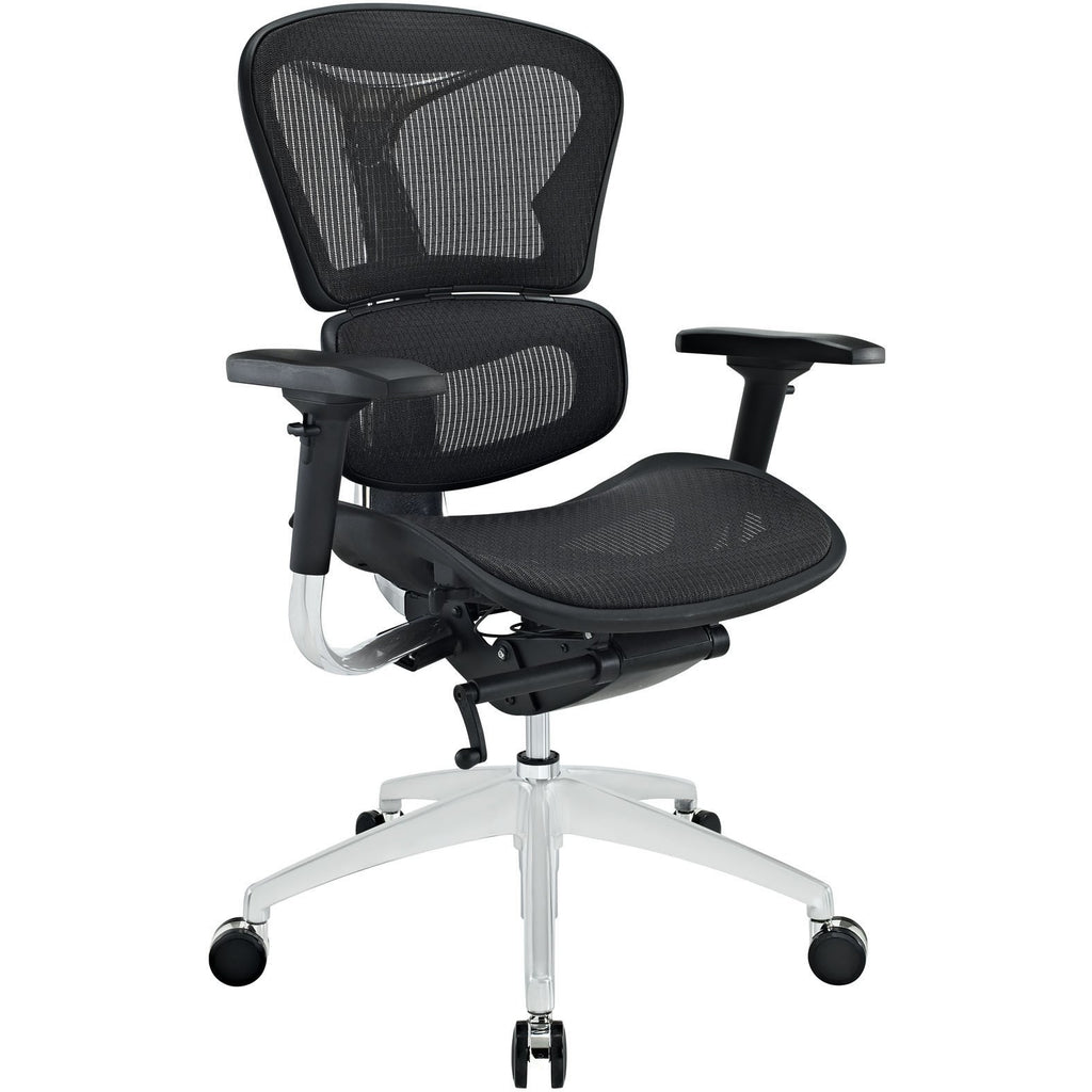 Modway Modern Lift Mid Back Adjustable Computer Office Chair - Minimal & Modern - 1