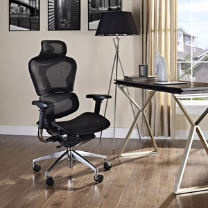 Modway Modern Lift High Back Adjustable Computer Office Chair EEI-234-BLK-Minimal & Modern