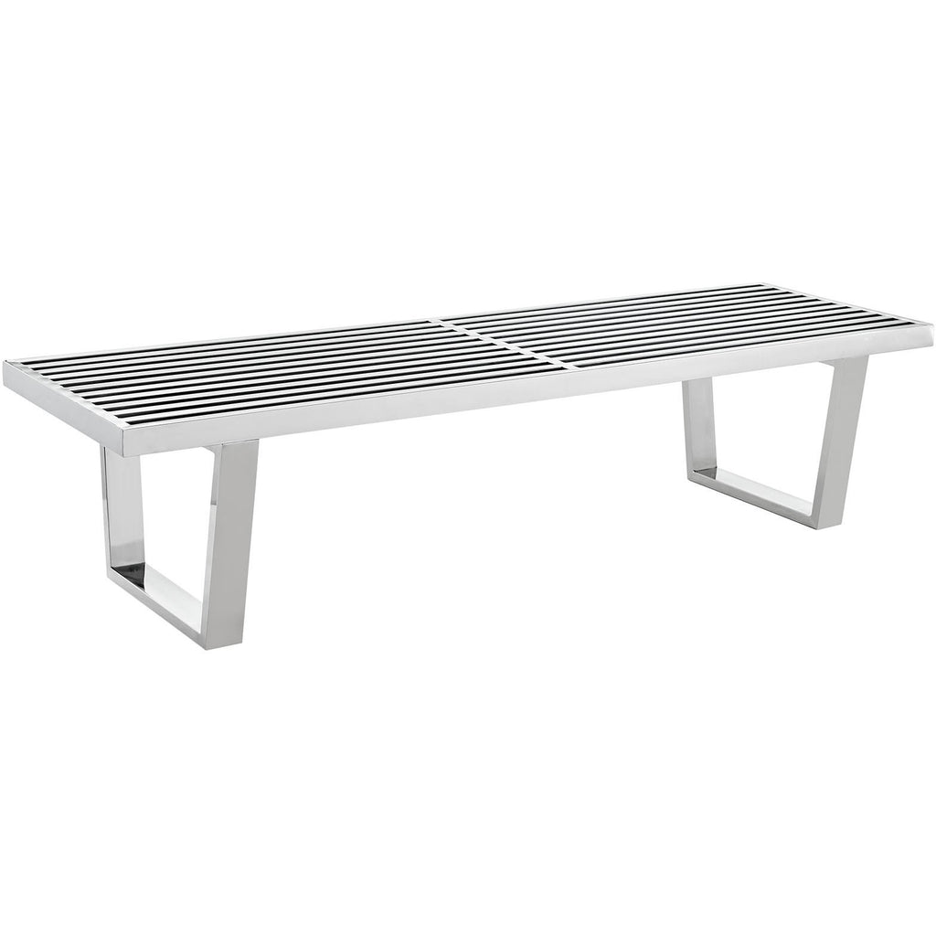 Modway Furniture Sauna 5' Stainless Steel Bench , Benches - Modway Furniture, Minimal & Modern - 1