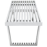 Modway Furniture Sauna 5' Stainless Steel Bench , Benches - Modway Furniture, Minimal & Modern - 3
