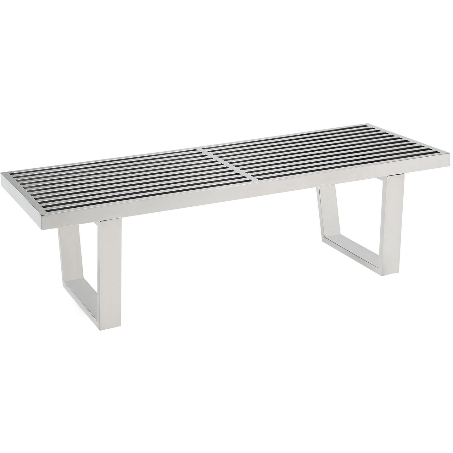 Modway Furniture Sauna 4' Stainless Steel Bench EEI-247-SLV-Minimal & Modern