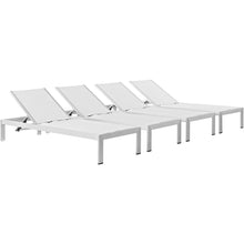 Modway Furniture Modern Shore Outdoor Patio Chaise Outdoor Patio Aluminum Set of 4-Minimal & Modern