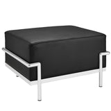 Modway Furniture Charles Grande Leather Ottoman Black, Ottoman - Modway Furniture, Minimal & Modern - 9