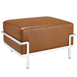 Modway Furniture Charles Grande Leather Ottoman Tan, Ottoman - Modway Furniture, Minimal & Modern - 5