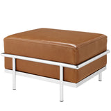 Modway Furniture Charles Grande Leather Ottoman , Ottoman - Modway Furniture, Minimal & Modern - 7