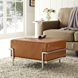 Modway Furniture Charles Grande Leather Ottoman , Ottoman - Modway Furniture, Minimal & Modern - 8