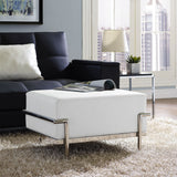 Modway Furniture Charles Grande Leather Ottoman , Ottoman - Modway Furniture, Minimal & Modern - 4