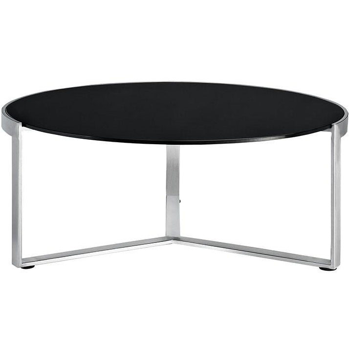 Modway Furniture Modern Round Disk Coffee Table in Black EEI-256-BLK-Minimal & Modern