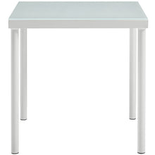 Modway Furniture Modern Harmony Outdoor Patio Aluminum Side Table In White EEI-2604-WHI-Minimal & Modern