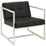Modway Furniture Modern Hover Lounge Chair Black, Chairs - Modway Furniture, Minimal & Modern - 5