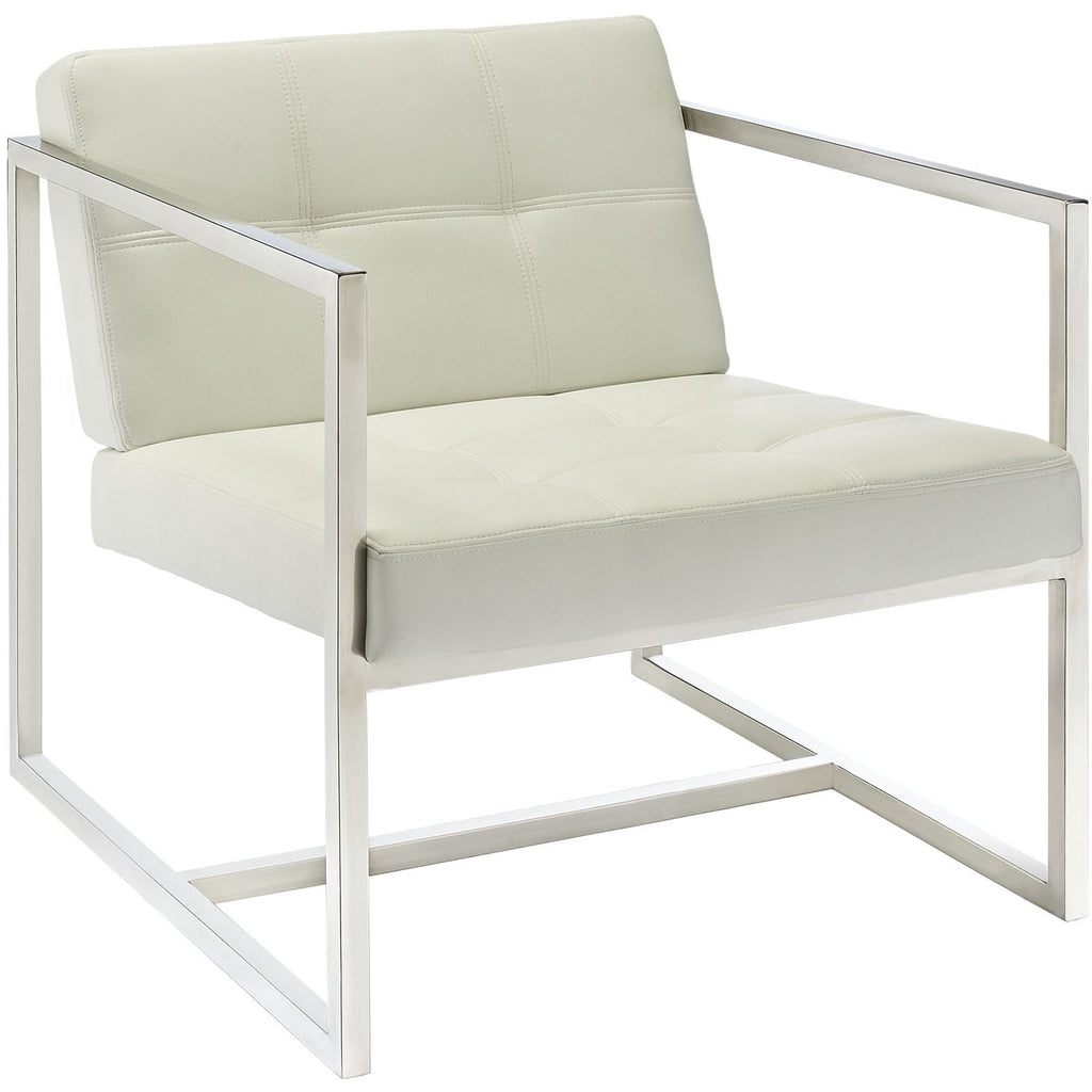 Modway Furniture Modern Hover Lounge Chair White, Chairs - Modway Furniture, Minimal & Modern - 1