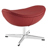 Modway Furniture Glove Leather Ottoman Red, Ottoman - Modway Furniture, Minimal & Modern - 9
