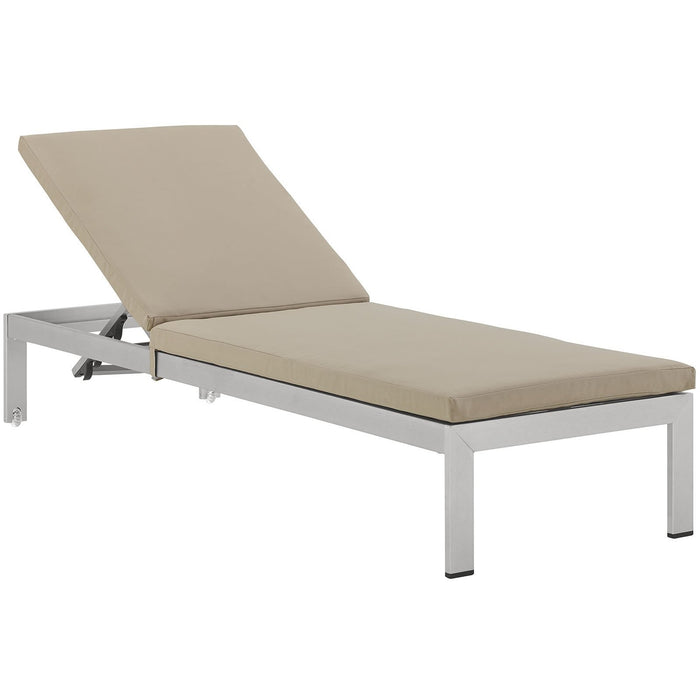 Modway Furniture Modern Shore Outdoor Patio Aluminum Chaise with Cushions - EEI-2660-Minimal & Modern