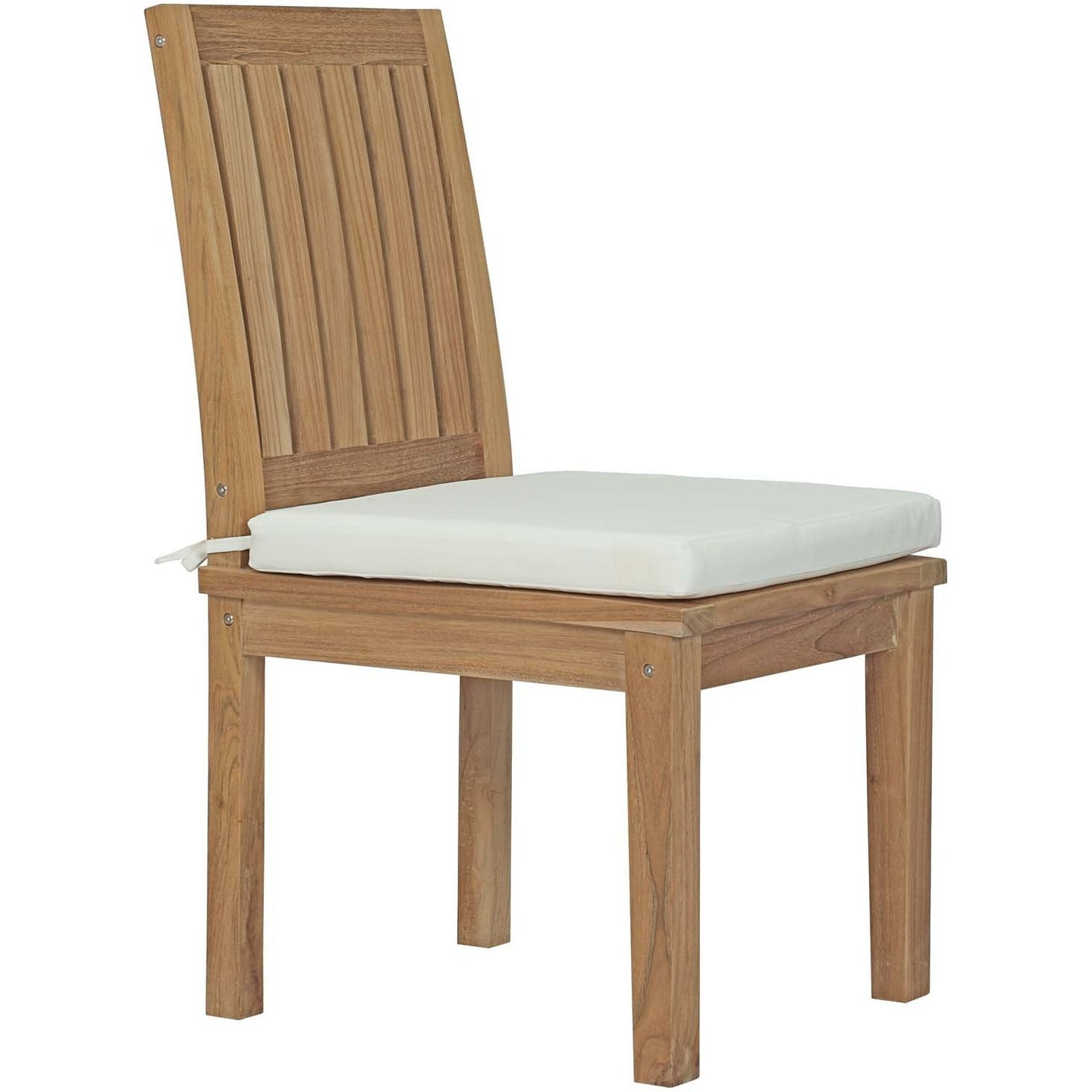 Modway Furniture Modern Marina Outdoor Patio Teak Dining Chair - EEI-2700-Minimal & Modern