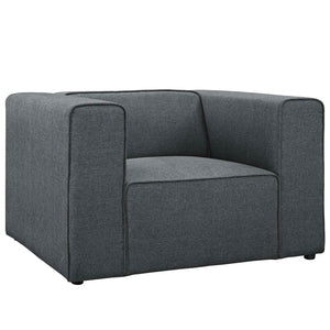 Modway Furniture Modern Mingle Upholstered Fabric Armchair - EEI-2718-Minimal & Modern