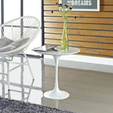 "Modway Furniture Lippa 20"" Marble White Side Table , dining tables - Modway Furniture, Minimal & Modern - 4"