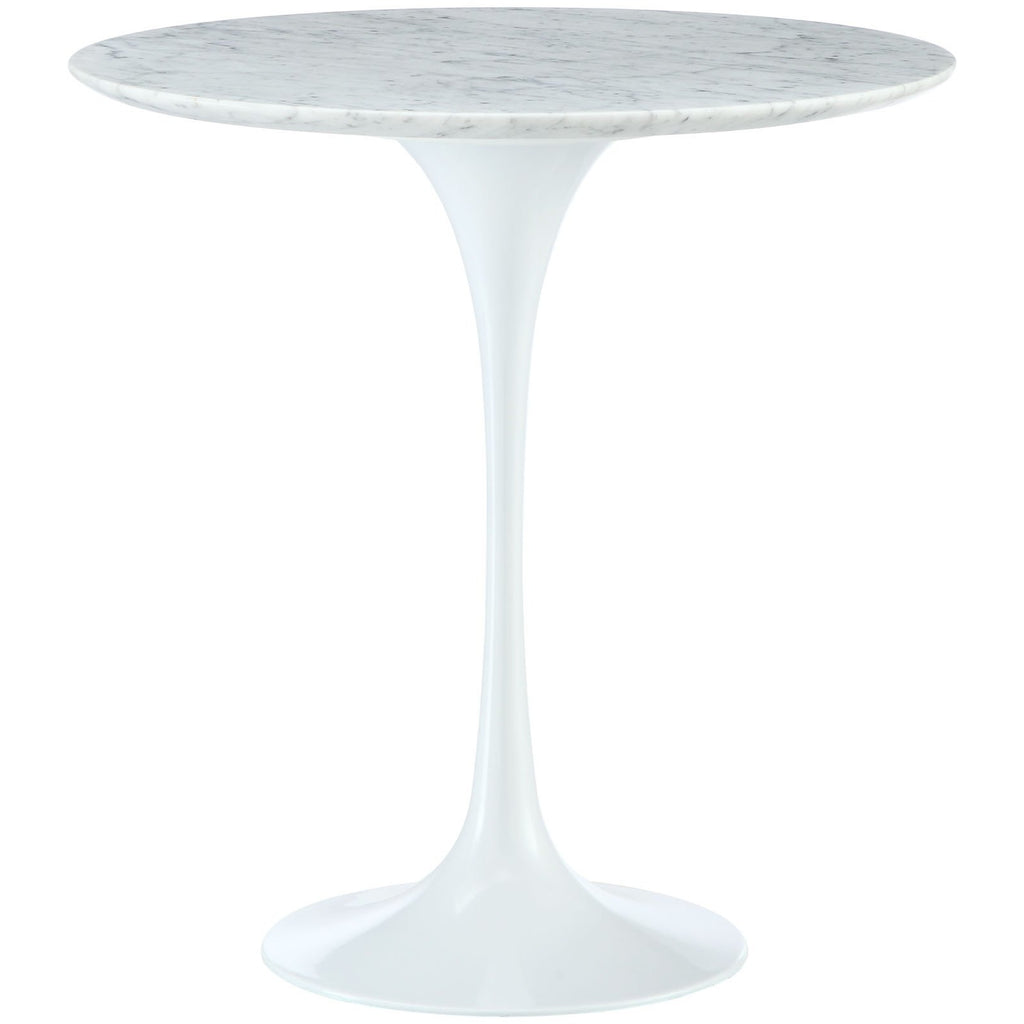 "Modway Furniture Lippa 20"" Marble White Side Table , dining tables - Modway Furniture, Minimal & Modern - 1"