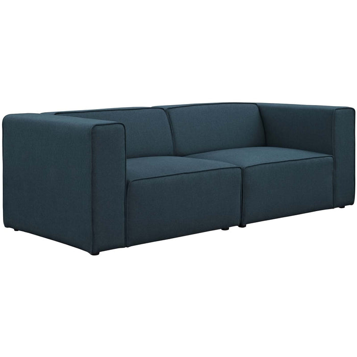 Modway Furniture Modern Mingle 2 Piece Upholstered Fabric Sectional Sofa Set - EEI-2825