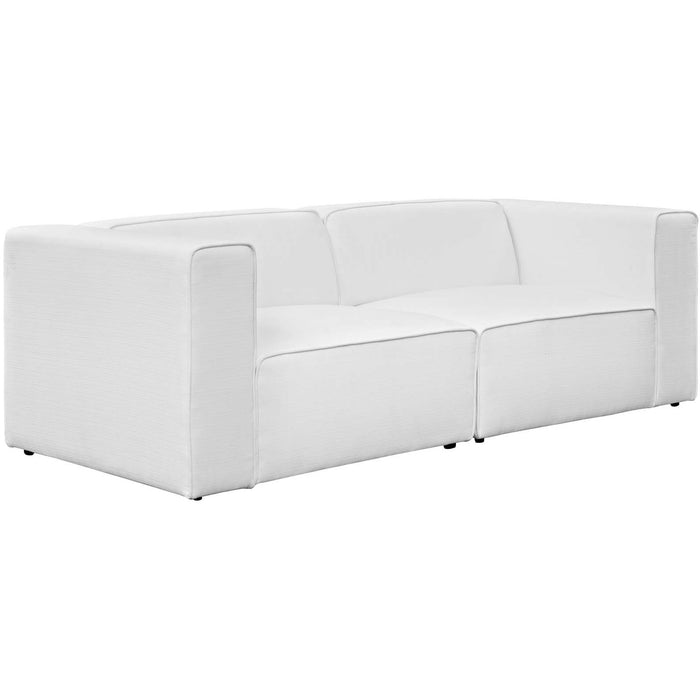 Modway Furniture Modern Mingle 2 Piece Upholstered Fabric Sectional Sofa Set - EEI-2825-Minimal & Modern