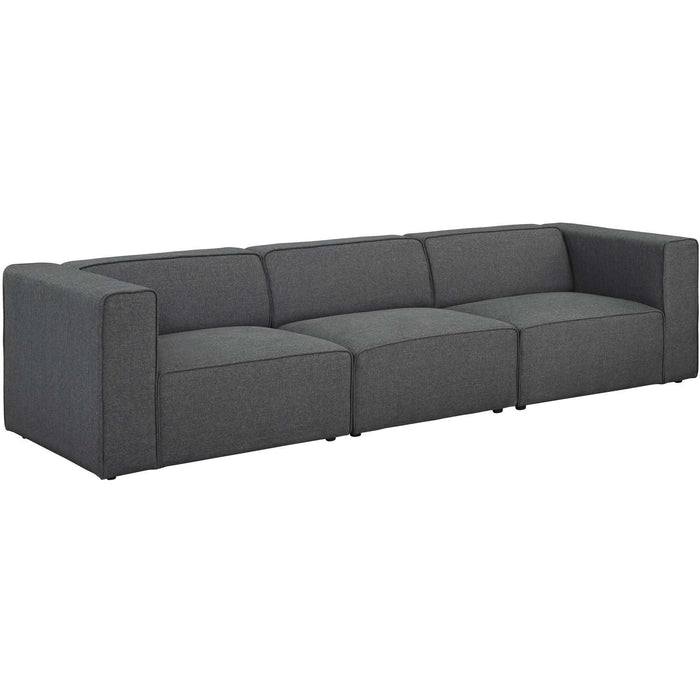 Modway Furniture Modern Mingle 3 Piece Upholstered Fabric Sectional Sofa Set - EEI-2827