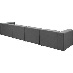 Modway Furniture Modern Mingle 4 Piece Upholstered Fabric Sectional Sofa Set - EEI-2829-Minimal & Modern