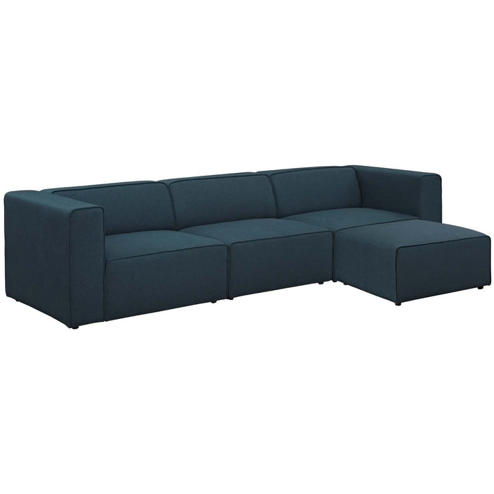 Modway Furniture Modern Mingle 4 Piece Upholstered Fabric Sectional Sofa Set - EEI-2831-Minimal & Modern