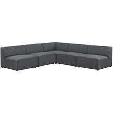 Modway Furniture Modern Mingle 5 Piece Upholstered Fabric Armless Sectional Sofa Set - EEI-2839-Minimal & Modern